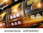 golden black gold rush casino... | Shutterstock . vector #639266962
