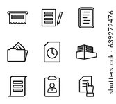 documents icons set. set of 9... | Shutterstock .eps vector #639272476