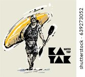 kayaker. sketch style vector...   Shutterstock .eps vector #639273052
