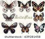 collection of vector realistic... | Shutterstock .eps vector #639281458