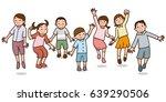 children to jump | Shutterstock .eps vector #639290506