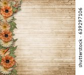 vintage background with a... | Shutterstock . vector #639297106