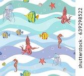 marine life. | Shutterstock .eps vector #639298522