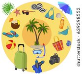 happy vacation. | Shutterstock .eps vector #639298552