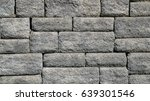 grey stone wall brick... | Shutterstock . vector #639301546