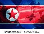 north korean icbm missile....   Shutterstock . vector #639304162