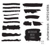 vector dark black grunge... | Shutterstock .eps vector #639314086