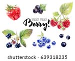 berries watercolor set...   Shutterstock . vector #639318235