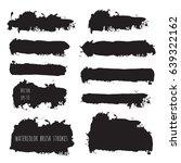 vector dark black grunge...   Shutterstock .eps vector #639322162