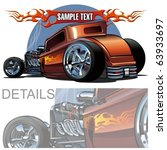 vector cartoon hot rod. more... | Shutterstock .eps vector #63933697
