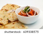 indian food or indian curry in... | Shutterstock . vector #639338575