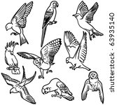 vector illustration of birds... | Shutterstock .eps vector #63935140