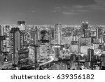 black and white  city central... | Shutterstock . vector #639356182
