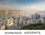 aerial view hong kong central... | Shutterstock . vector #639359476