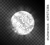 disco ball isolated on... | Shutterstock .eps vector #639371386