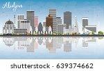 abidjan skyline with gray... | Shutterstock . vector #639374662