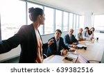 asian businesswoman explaining... | Shutterstock . vector #639382516