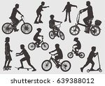 silhouette of a bicyclist.... | Shutterstock .eps vector #639388012