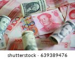 the many banknote. money  yuan... | Shutterstock . vector #639389476