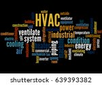 hvac  word cloud concept on... | Shutterstock . vector #639393382