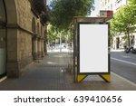 blank advertisement mock up  in ... | Shutterstock . vector #639410656