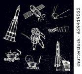 vector illustration. space... | Shutterstock .eps vector #639419032