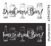 bottle of beer  different... | Shutterstock .eps vector #639420796