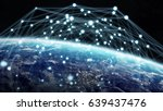 global network and datas... | Shutterstock . vector #639437476