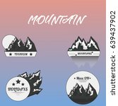 logo mountain   complect... | Shutterstock .eps vector #639437902