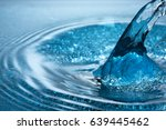 beautiful splash of blue water   Shutterstock . vector #639445462