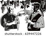 two farmers in a break of the... | Shutterstock .eps vector #639447226