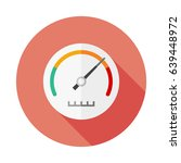speedometer flat icon with long ... | Shutterstock .eps vector #639448972
