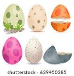 dinosaur eggs | Shutterstock .eps vector #639450385