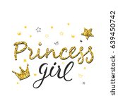 princess girl typography with... | Shutterstock .eps vector #639450742