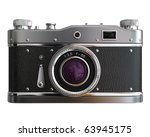 Old Photo Camera On White...