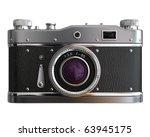 Old Photo Camera On White...