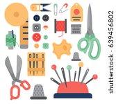 accessories equipment... | Shutterstock .eps vector #639456802