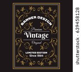 vintage background label style... | Shutterstock .eps vector #639458128