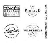 bundle of wilderness badges ... | Shutterstock .eps vector #639458725