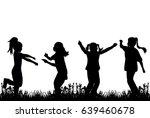 vector  silhouette of children...   Shutterstock .eps vector #639460678