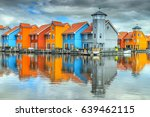amazing colorful buildings on... | Shutterstock . vector #639462115