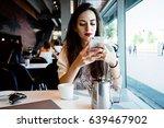 young entrepreneur is messaging ... | Shutterstock . vector #639467902