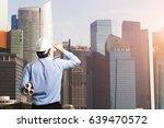 engineers looking at... | Shutterstock . vector #639470572