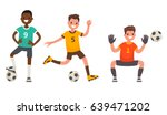 set of characters of soccer... | Shutterstock .eps vector #639471202