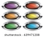 set of oval backgrounds with a... | Shutterstock .eps vector #639471208