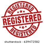 registered round red grunge... | Shutterstock .eps vector #639472582
