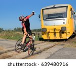 Unhappy Cyclist Has Trouble On...