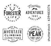 set of wilderness badges in... | Shutterstock .eps vector #639483376