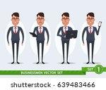 funny cartoon businessmen   set ... | Shutterstock .eps vector #639483466