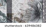home decorative canvas flower... | Shutterstock . vector #639486382
